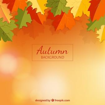 Moderne herfstbckground met vlakke bladeren