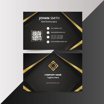 Moderne het ontwerpsjablonen van het visitekaartje van het luxe zwarte gouden elegante