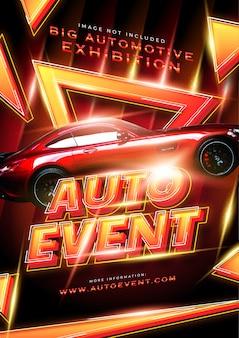 Moderne hete auto evenement poster