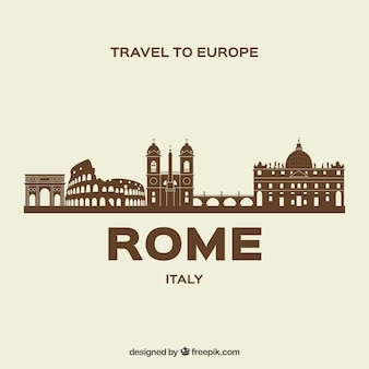 Moderne horizon van rome