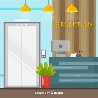 Moderne hotelreceptie samenstelling
