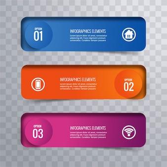 Moderne infografische baners