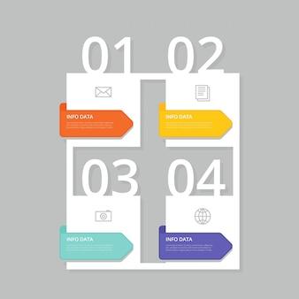 Moderne infografische sjabloon