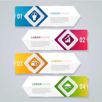 Moderne infographic element banner.