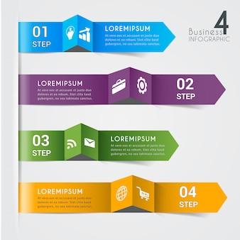 Moderne infographic elementenbanner