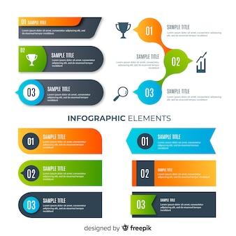 Moderne infographic elementeninzameling met gradiëntstijl