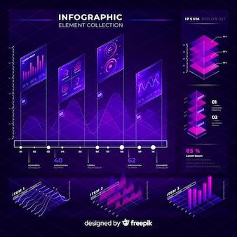 Moderne infographic elementeninzameling