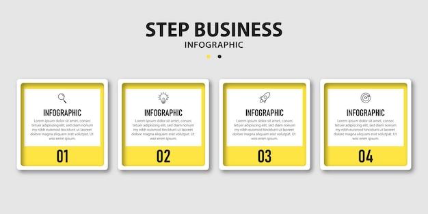Moderne infographic ontwerpsjabloon met vier opties