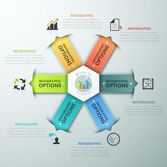 Moderne infographic optiebanner