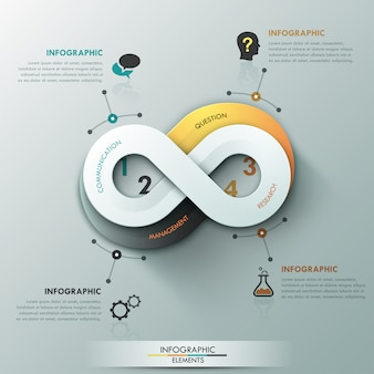 Moderne infographic optiebanner