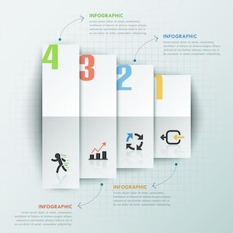 Moderne infographic optiesjabloon