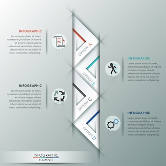 Moderne infographic optiesjabloon