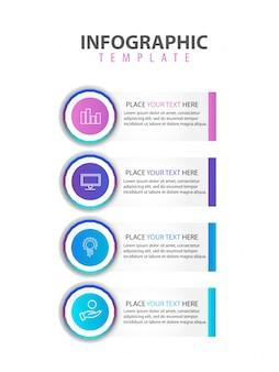 Moderne infographic platte vector