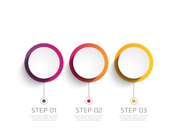 Moderne infographic sjabloon met stappen