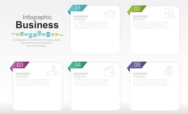 Moderne infographic sjabloon stock illustratie infographic drie objecten cirkel doorsnede ch