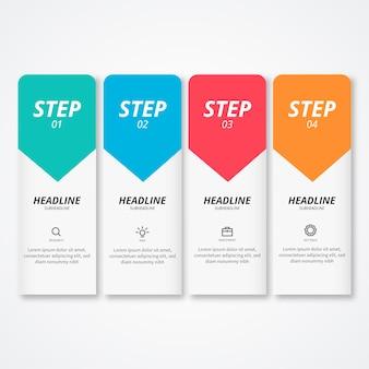 Moderne infographic stappen
