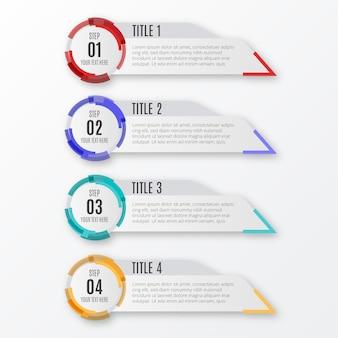 Moderne infographic-stappen