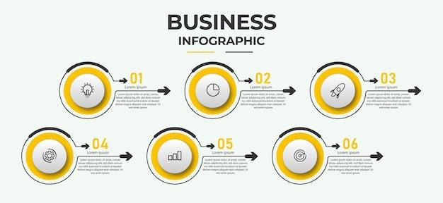 Moderne infographic zakelijke sjabloon en gegevensvisualisatie