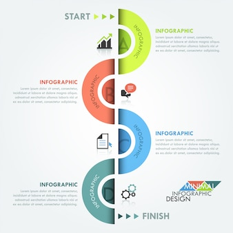 Moderne infographics circulaire processjabloon