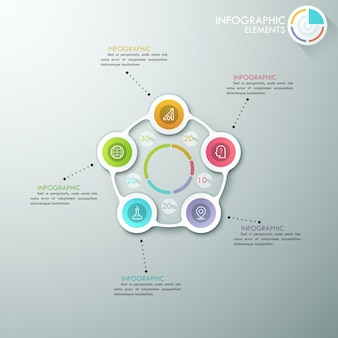 Moderne infographics cyclus sjabloon