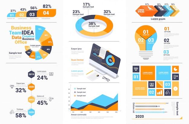 Moderne infographics design collectie