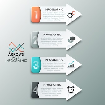 Moderne infographics opties banner