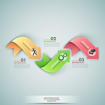 Moderne infographics opties banner