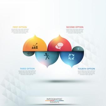 Moderne infographics opties sjabloon