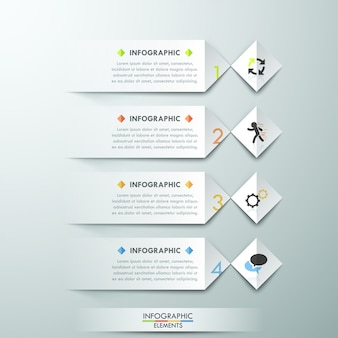 Moderne infographics opties sjabloon