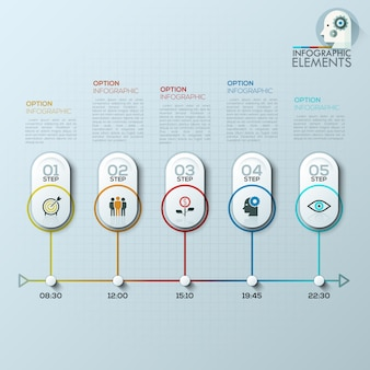 Moderne infographics opties.