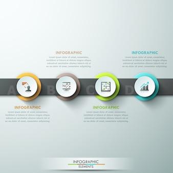 Moderne infographics processjabloon