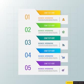 Moderne infographics-sjabloon 5 opties.