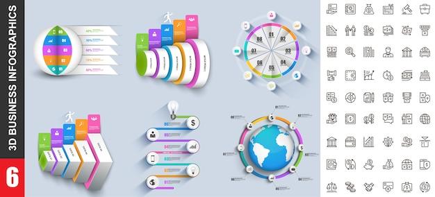 Moderne infographics sjabloon