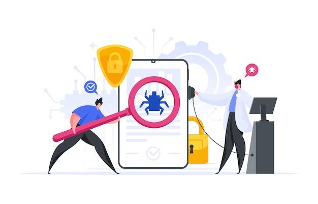 Moderne ingenieurs op zoek naar bugs in software