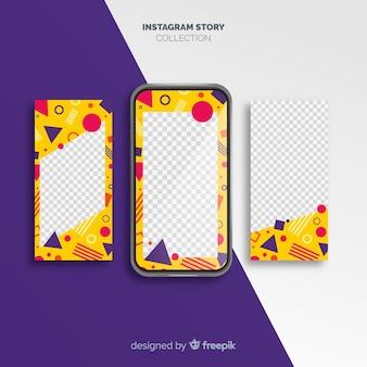 Moderne instagram verhaalsjabloon collectie