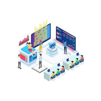 Moderne isometrische internetsnelheidstechnologie voor de ontwikkeling van communicatietechnologie