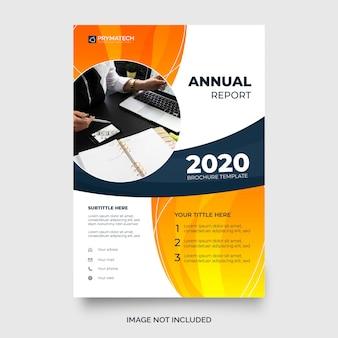 Moderne jaarlijkse rapportsjabloon