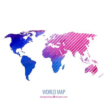 Moderne kaart van de wereld