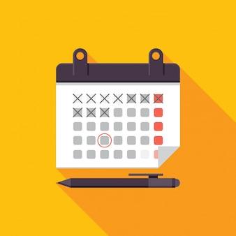 Moderne kalender vergadering schema illustratie
