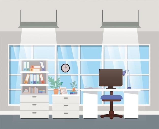 Moderne kantoor baas scène