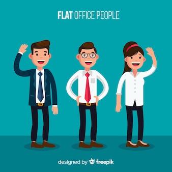 Moderne kantoor mensen samenstelling met platte ontwerp