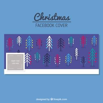 Moderne kerstbomen facebook omslag
