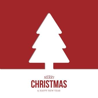 Moderne kerstboom achtergrond met platte ontwerp