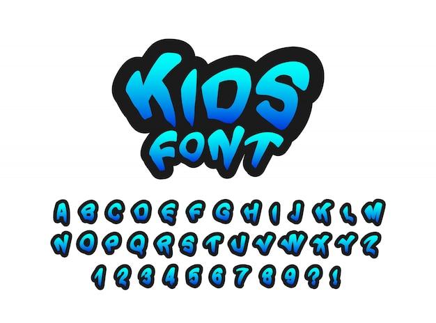 Moderne kinderen lettertype