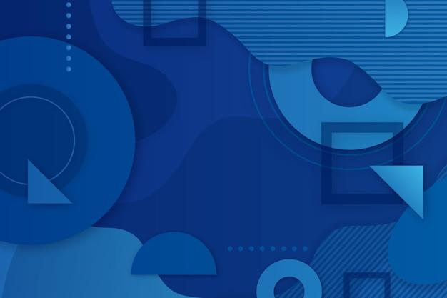 Moderne klassieke blauwe screensaver