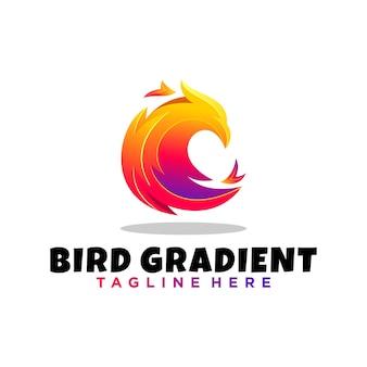 Moderne kleur vogel logo
