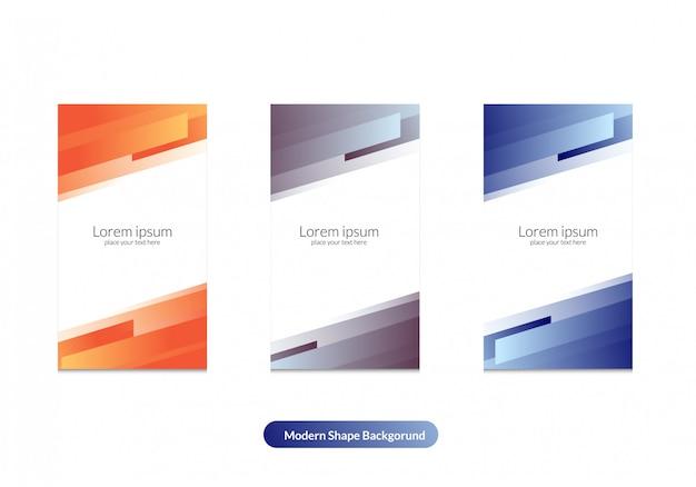 Moderne kleuren bacgkround voor instagram verhaalsjabloon