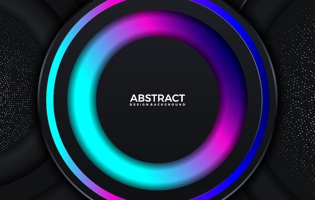 Moderne kleurovergang felle kleur. geometrische achtergrond. abstracte website bestemmingspagina met cirkels illustratie