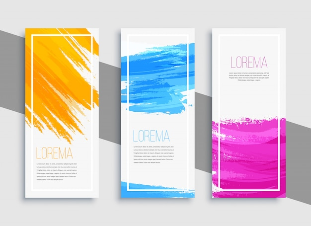 Moderne kleurrijke bannerachtergrond