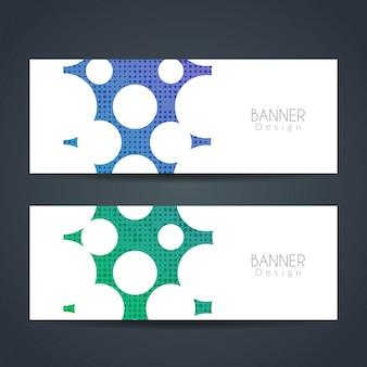 Moderne kleurrijke banners